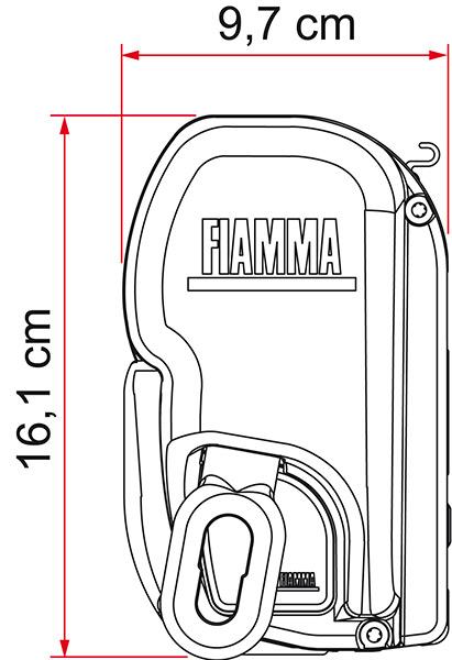 SOPORTE TOLDO FIAMMA F45L 500 POLAR WHITE